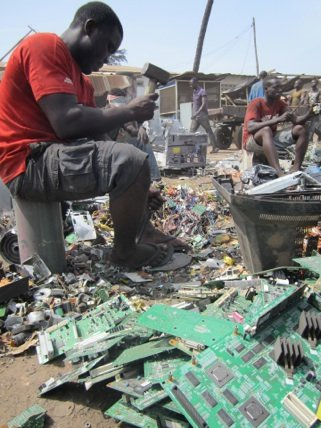 E-WASTELAND presents a visual portrait of unregulated e waste recycling in Ghana